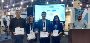 UCLA's team at the Composites in Architecture Design Challenge awards ceremony.