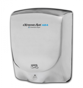 American Dryer has made available eXtremeAir ADA, an energy-efficient surface-mounted hand dryer that delivers ADA compliance.