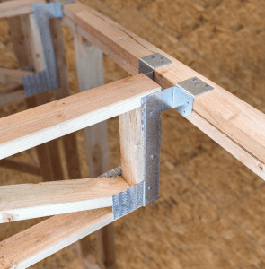 The DG fire-wall hanger series from Simpson Strong-Tie is suited for Type III multifamily, multi-level building construction