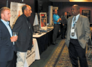 Attendees enjoyed meeting with sponsors in the Tabletops area.