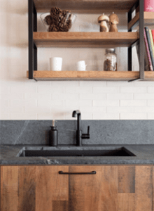 Like other natural stones, soapstone can take on a range of tonalities.