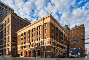 The Foundation Hotel's preservation efforts included a comprehensive exterior restoration that preserved and restored all original terra cotta and masonry elements.