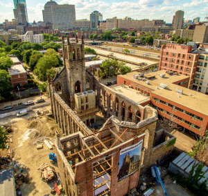 Boston-based McNamara Salvia Structural Engineers determined how to leave the four walls of the original building standing while essentially blowing out the roof.