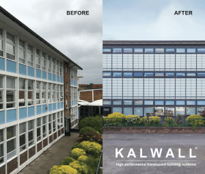 Kalwall panels in curtainwall systems or skylights are a solution to introduce diffuse natural daylighting into a building.
