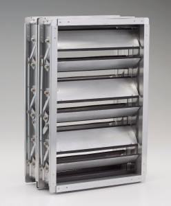 The TED40x2 low-leakage insulated control damper from Ruskin features insulated airfoil blades, which offer strength and sealing ability while reducing noise and static pressure loss.