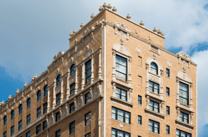 The owners of THE PEABODY HOTEL in Memphis, Tenn., sought noise control with EFCO Corp.'s fixed windows, which replicate a hung configuration and were glazed with insulated glass. Pitman Glass Co., Memphis, installed the windows. PHOTOS: EFCO Corp.