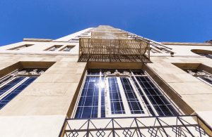 Replacement windows from Graham Architectural Products in the historic Hollywood ROOSEVELT HOTEL, Los Angeles, improved the building's energy performance while maintaining its iconic style. PHOTO: Travelview/Shutterstock.com