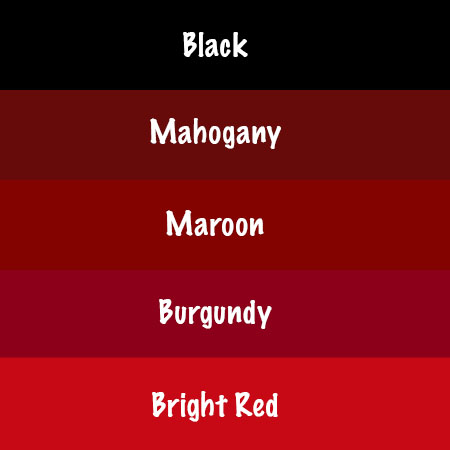 Bright Red In Color  Letters