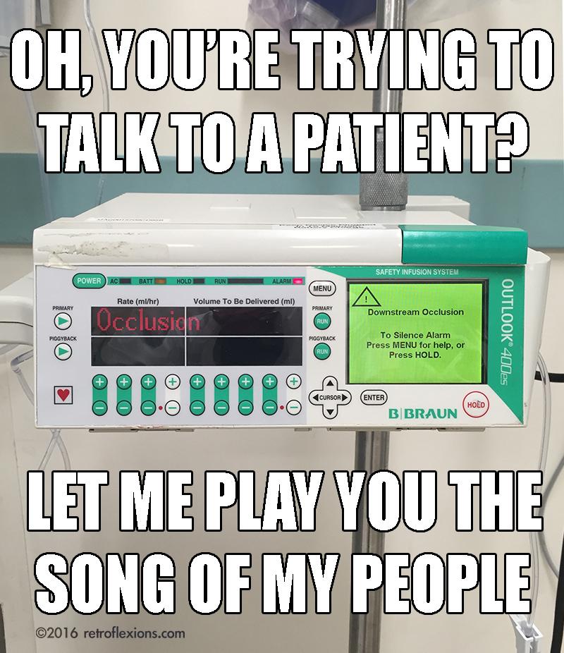beeping IV pump meme