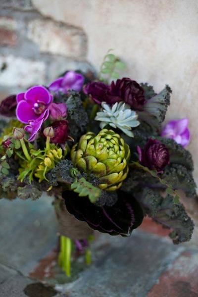 Artichoke-Kale-bouquet