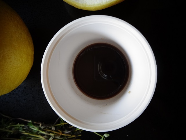 Thyme and Black Pepper Simple Syrup