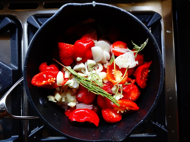 Sauce Ingredients with Rosemary