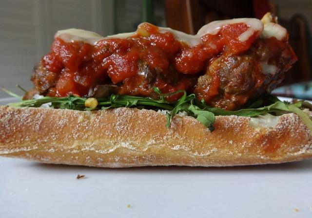 Umami Meatball Sandwich