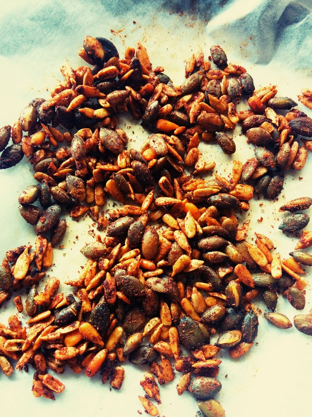 Berbere Roasted Pepitas and Pinenuts