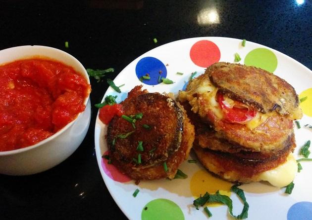 Eggplant Salami Sandwiches 2