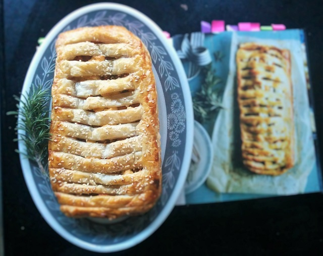 Pumpkin, Goat's Cheese and Onion Marmalade Jalousie