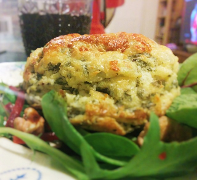 Twice Baked Goats Cheese Souffles