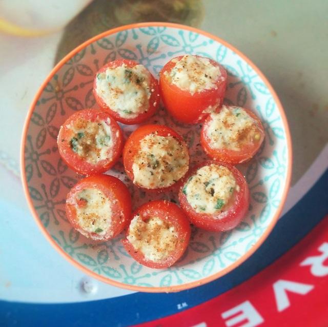 Old Bay Horseradish Tomatoes