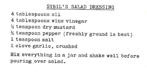 Sybil Burton Christopher's Salad Dressing 001