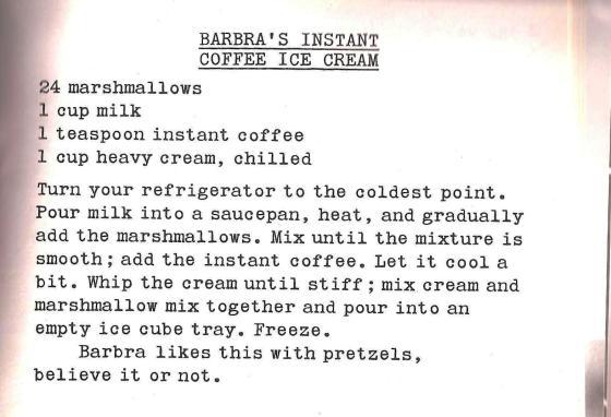 Barbra Streisand's Coffee Ice Cream 001