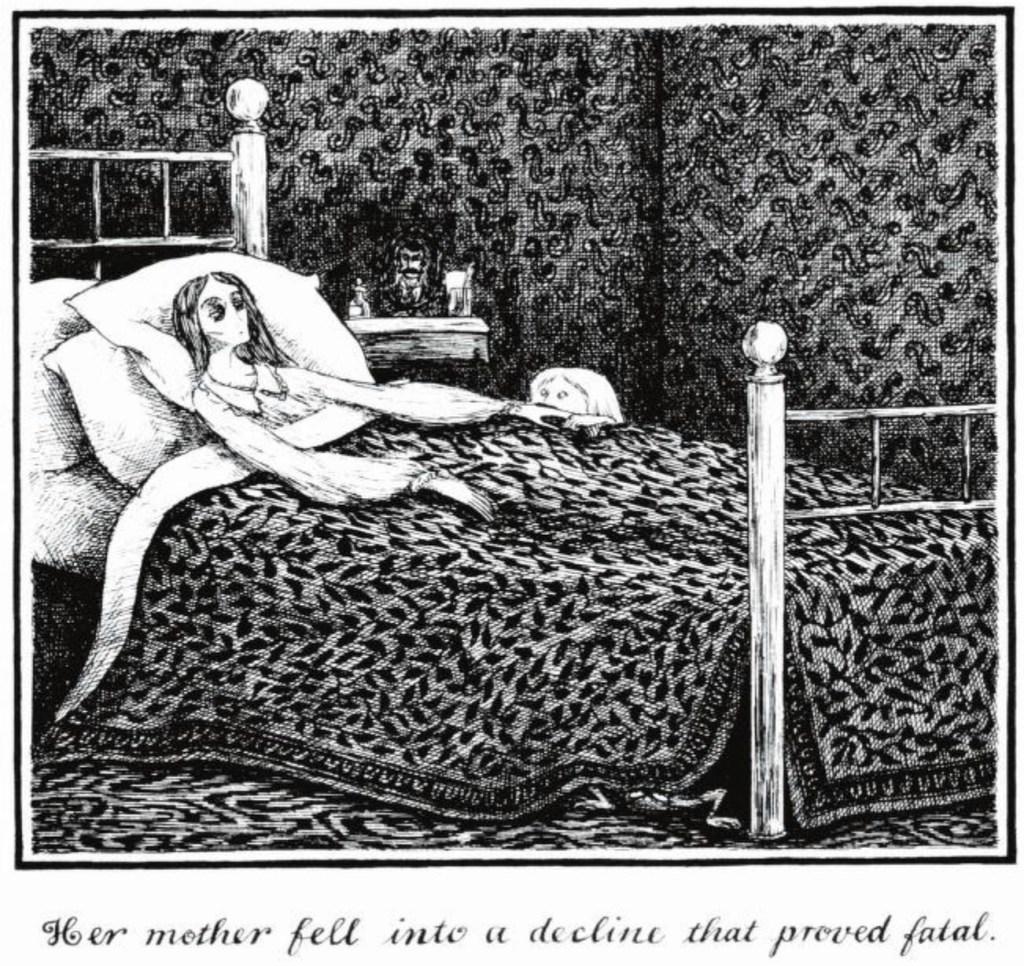 Edward Gorey Gothic illustrations