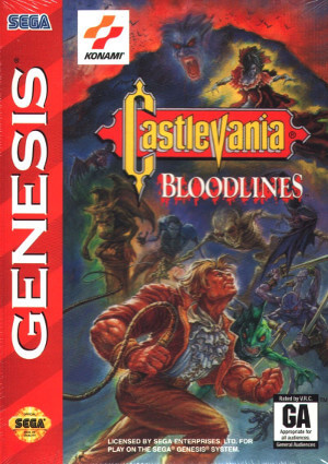 castlevania bloodlines genesis box art front cover