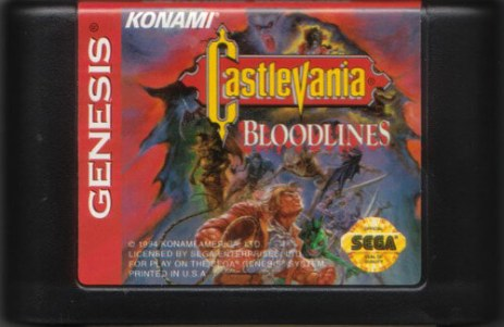 castlevania bloodlines genesis cartridge