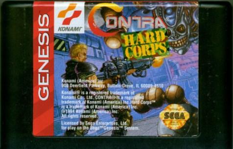 contra hard corps genesis cartridge