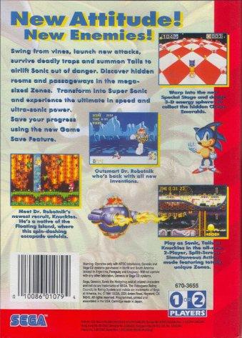 sonic the hedgehog 3 genesis box art back cover
