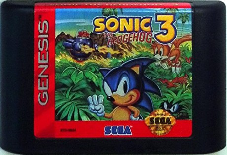 sonic the hedgehog 3 genesis cartridge