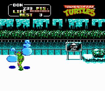 teenage mutant ninja turtles II the arcade game nes screenshot 2