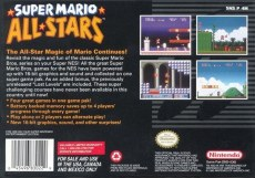 super mario all stars snes box art back cover