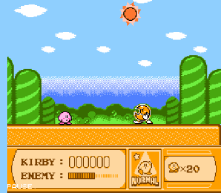 kirby's adventure nes screenshot 1
