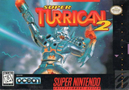 super turrican 2 snes box art front cover