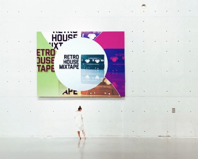 Retro House Mixtape in an art gallery