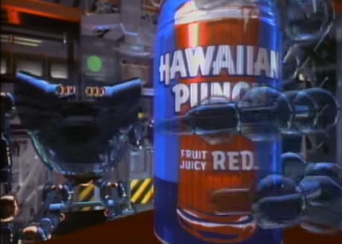 1987 Hawaiian Punch Commercial with Music by Mark Mothersbaugh (DEVO)