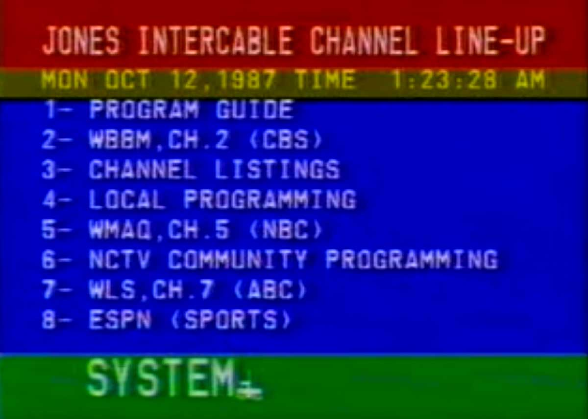 Cable Channel Guide from 1987 (Telaction Coming Soon!)