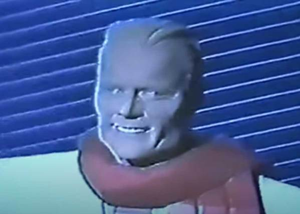 Max Headroom sings Merry Christmas Santa Claus (You're A Lovely Guy)