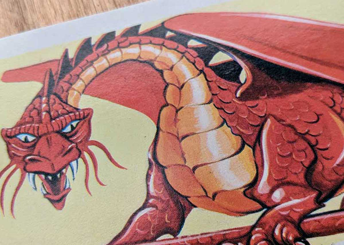 Dungeons & Dragons Monster Cards – Red Dragon