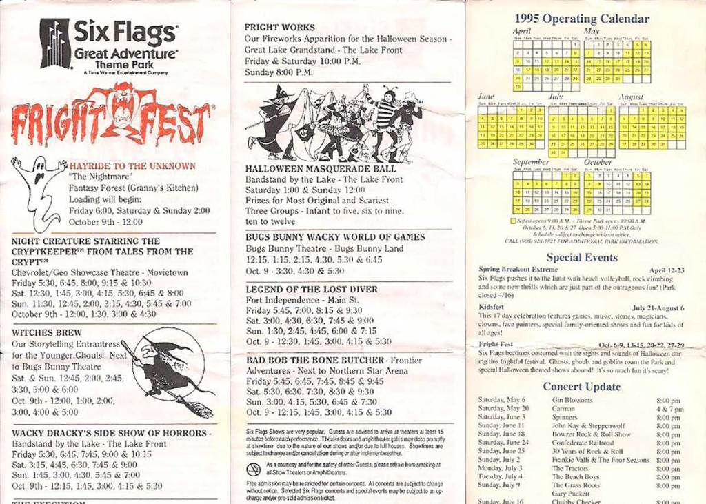 Six Flags Great Adventure Fright Fest (1995)