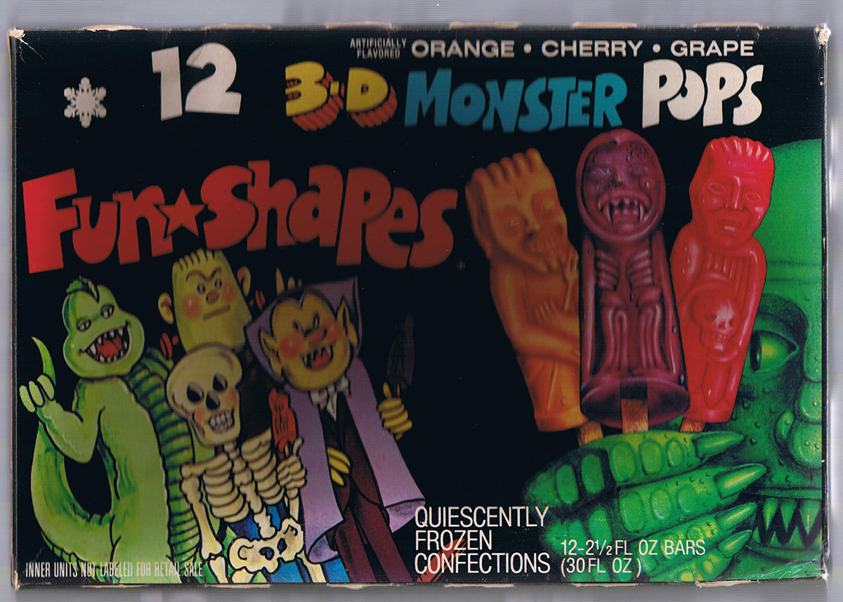 "Do your remember Fun Shapes ""3-D Monster Pops"" Popsicles?"