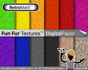fun fur textures digital paper master Listing Graphic