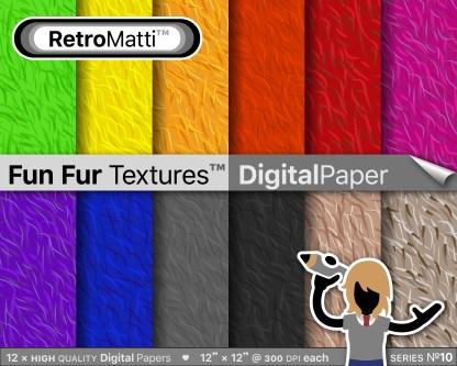 fun fur textures digital paper master Listing Graphic