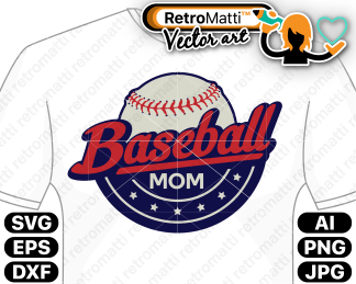 retromatti w part baseball mom