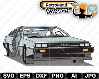 retromatti w part delorean illustrated