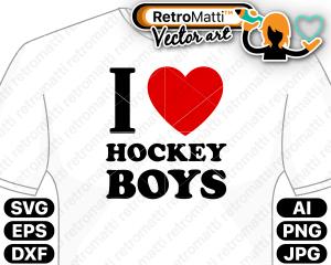 retromatti w part i love hockey boys