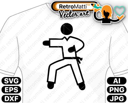 retromatti w part karate icon