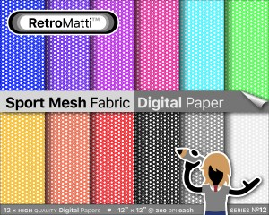 sport mesh fabric digital paper Listing Graphic