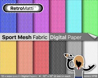 sport mesh fabric digital paper Listing Graphic