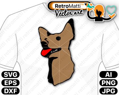retromatti w part  dog quentin color